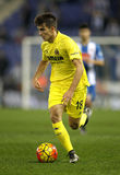 Denis Suarez of Villareal CF. During a Spanish League match against RCD Espanyol at the Estadi Cornella on January 23, 2016 in Barcelona, Spain Royalty Free Stock Photo