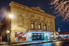 Denise Pelletier Theatre at night Royalty Free Stock Images