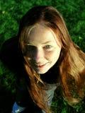 Denise que olha acima Imagens de Stock Royalty Free
