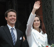 Denish Prince Frederik and his wife Stock Photo