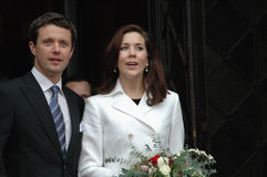 Denish prince Frederik and Mary Royalty Free Stock Photography