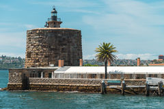 Denison forte, Sydney Harbour Fotografie Stock