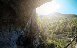 Denisova caves in Altai Royalty Free Stock Photography