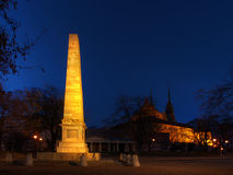Denisovy sady park in Brno, Czech republic. Night shot of Denisovy sady park in Brno, Czech republic stock image