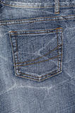 A denium blue jean pocket Royalty Free Stock Photo