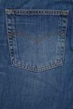 Denium blue jean pocket shot up close Royalty Free Stock Photos