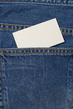 Denium blue jean pocket witn business card Royalty Free Stock Photos