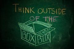 Denk buiten de doos Royalty-vrije Stock Foto's