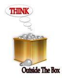 Denk buiten de Doos Royalty-vrije Stock Fotografie