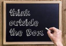 Denk buiten de doos Royalty-vrije Stock Afbeelding