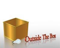 Denk buiten de Van de Bedrijfs doos Slogan Royalty-vrije Stock Foto