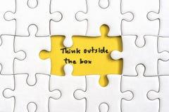 Denk buiten het van bedrijfs dooscitaten concept stock afbeeldingen