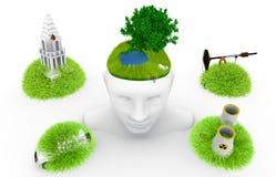 Denk ecologie Royalty-vrije Stock Foto