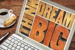 Denk en droom grote woordsamenvatting Stock Foto's