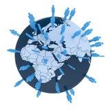 Denk globaal stock illustratie