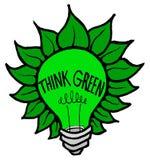Denk Groen Royalty-vrije Stock Afbeeldingen