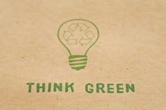 Denk groen stock fotografie