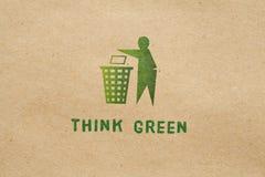 Denk groen Stock Foto