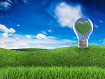 Denk groen concept Royalty-vrije Stock Afbeelding