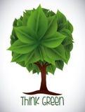 Denk groen ontwerp Stock Fotografie