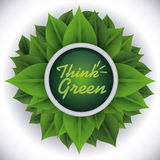 Denk groen ontwerp Royalty-vrije Stock Afbeeldingen