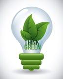 Denk groen ontwerp Stock Afbeelding