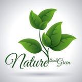 Denk groen ontwerp Royalty-vrije Stock Afbeelding