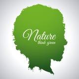 Denk groen ontwerp Royalty-vrije Stock Foto's