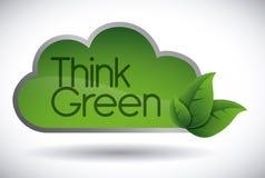 Denk groen ontwerp Royalty-vrije Stock Fotografie