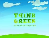 01 denk Groene Achtergrond Stock Afbeeldingen