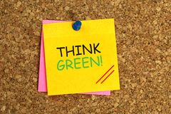 Denk groene kleverig royalty-vrije stock afbeeldingen