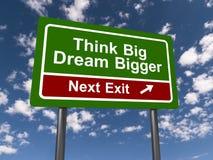 Denk groot en grotere droom Royalty-vrije Stock Foto's