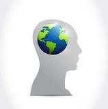Denk het internationale ontwerp van de conceptenillustratie Stock Fotografie