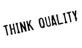 Denk Kwaliteits rubberzegel Royalty-vrije Stock Foto