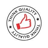 Denk Kwaliteits rubberzegel Royalty-vrije Stock Fotografie