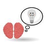 Denk ontwerp, positief en ideeconcept Stock Afbeeldingen