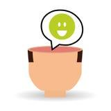 Denk ontwerp, positief en ideeconcept Stock Fotografie
