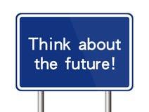 Denk over de toekomst stock illustratie
