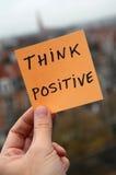 Denk positief Royalty-vrije Stock Foto's