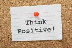 Denk positief! Stock Afbeeldingen