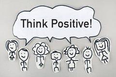 Denk positief Stock Fotografie