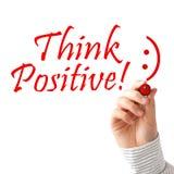 Denk positief Stock Afbeelding