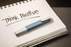 Denk positief Stock Foto's