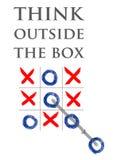Denk uit de doos Stock Foto