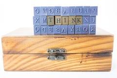 Denk uit de doos Stock Fotografie