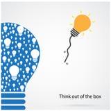 Denk uit het doosconcept Stock Afbeelding