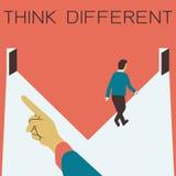 Denk verschillend Royalty-vrije Stock Afbeelding