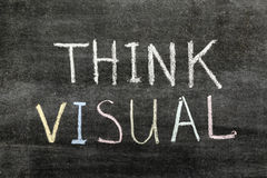 Denk visueel stock afbeelding