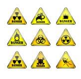 Denk waarschuwingsbord Stock Fotografie