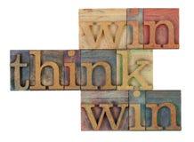 Denk win-win strategie royalty-vrije stock foto